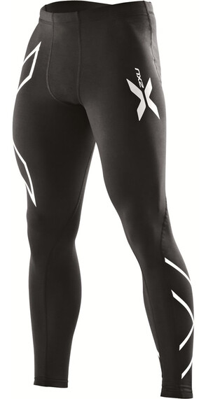 2XU M's Compression Tights Black/Black (Silver logo)